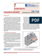 Design of Anchor Bolts Embedded in Masonry