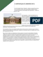 Formato de carta de solicitud para la admisi?n de la Universidad