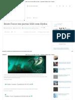 Brute Force Em Portas SSH Com Hydra _ Nanoshots _ Notícias, Linux e Tutoriais