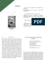 Gaston Bachelard - Fragmento de un diario del hombre