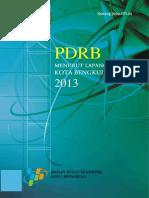 PDRB Kota Bengkulu Menurut Lapangan Usaha 2013