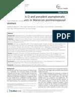 Hypovitaminosis D Dan Patah Tulang Belakang Tanpa Gejala Umum Pada Wanita Pascamenopause Maroko.