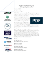 BCA Coalition Letter