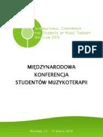 Międzynarodowa Konferencja Studentow Muzykoterapii - Program