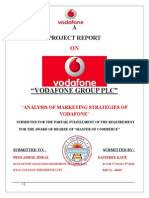 Simmy ARORA file of marketing strategy of vodafone with questionair