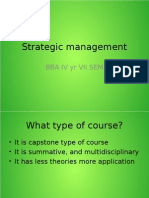 Strategic Management Class I and II
