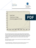 Value Investing Retrospective - Columbia Business School