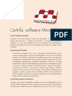 Cartilla Software Mendeley