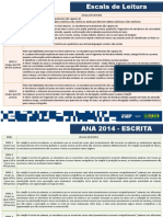 Escalas de Leitura, Escrita e Matemática ANA 2014