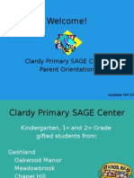 primary sage parent orientation night