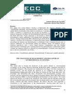 O DESAFIO DA MENSURAÇÃO E EVIDENCIAÇÃO DA CONTABILIDADE AMBIENTAL