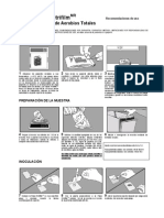 Placas Petrifilm recuento Aerobios totales