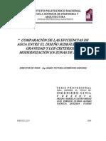 283_comparacion de Las Eficiencias de Agua Entre El Diseno Hidraulico Por Gravedad y Los Criterios de Modernizacion en Zona
