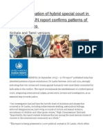 Zeid Urges Creation of Hybrid Special Court in Sri Lanka as UN Report Confirms Patterns of Grave Violations