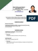 Curriculum- Cilene Loyola
