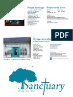 Sanctuary Brochure and Schedule