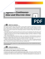 Signals ,Continuous Time and Discrete Time