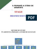 Stagiul I - Metode de Studiu Si Indicatori