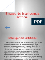 Ensayo de Inteligencia Artificial