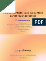 Conflictos Socio Ambientales Mineria Torno Recurso Hidricos