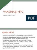 PPT Vaksinasi HPV
