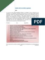 Aspectos Nutricionales de Las Grasas y Aceites