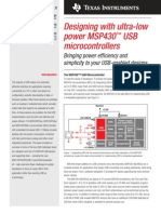 1. Designing With Ultra-low Power MSP430 USB Microcontrollers