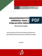 Requerimiento de Energía (Perú)