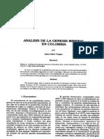 Analisis de La Genesis Mineral en Colombia