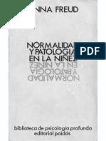 Freud Anna Normalidad Y Patologia en La Ninez
