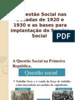 A Questão Social Nas Décadas de 1920 e