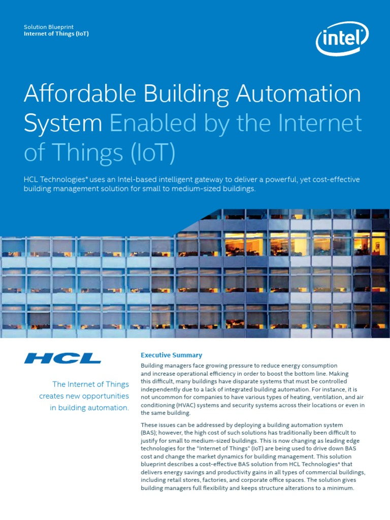 Iot Building Automation System Blueprint Building Automation Internet Of Things