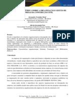 Análise Bibliométrica Sobre a Organização e Gestão