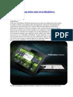 Cosas Básicas Que Debes Saber de La BlackBerry PlayBook