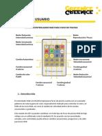 Manual Mando RGB Foco Piscina 12W