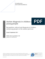 Autism Diagnosis in Children and Young People