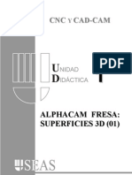 Alphacam Tutorial 3d 01