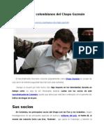 Los socios colombianos del Chapo Guzmán