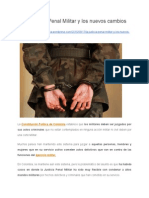 La Justicia Penal Militar y los nuevos cambios