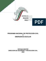 Programa Nacional de Proteccion Civil y Emergencia Escolar