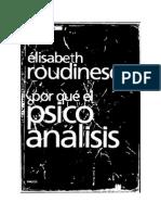 Elisabeth Roudinesco Por Que El Psicoanalisis