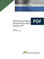 Microsoft Dynamics GP Performance White Paper