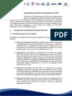 Informe Balance Jornada Electoral