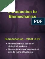 Intro to Biomechanics (Tv)