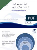 Presentación v Informe Miardor Electoral 2015