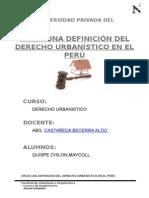 Hacia Una Definicion Del Derecho Urbanistico en El Peru