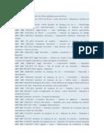 Lista de Normas ABNT Sistema Ferroviarios