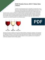 Ganadores De Los XVIII Premios Envero 2015 Y Datos Ruta Del Vino Ribera Del Duero