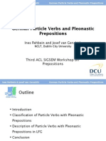 German Particle Verbs and Pleonastic Prepositions