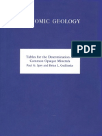 Tables for the Determination of Common Opaque Minerals